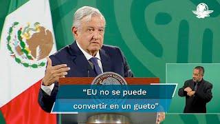 El presidente Andrés Manuel López Obrador reveló que el expresidente de Estados Unidos, Donald Trump, admitió que el problema de la migración no se resuelve con violencia