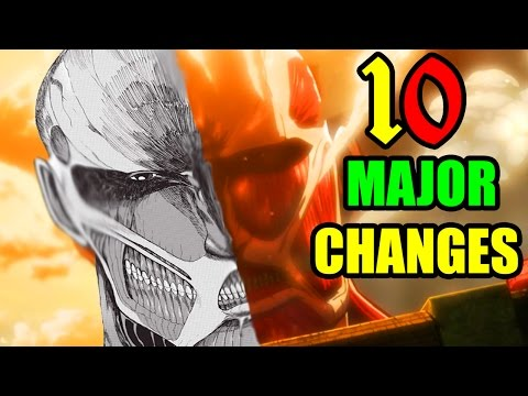10 MAJOR Changes in Attack on Titan You NEED To Know!