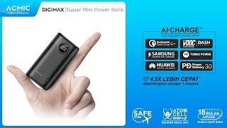 ACMIC DIGIMAX SuperMini Digital AiCharge Power Bank QC4 dengan PD & VOOC