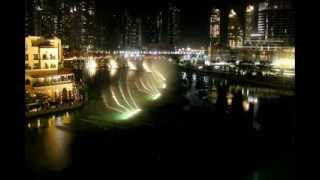 Dubai Fountain dancing to I will always love you....Whitney Houston