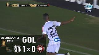 Gol - Santos 1 x 0 Atlético Paranaense - Libertadores 2017 - Fox Sports HD
