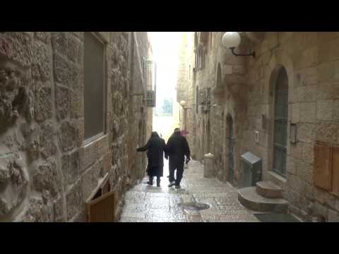 Walking the streets of the Jewish Quarter, Old City, Jerusalem