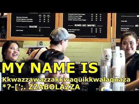 PRANK MY NAME IS Kkwazzawazzakkwaquikkwalaquaza ?'* Zzabolaza - Hardest name in Africa