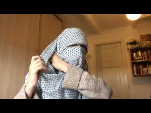 Niqab With Large Square Scarf