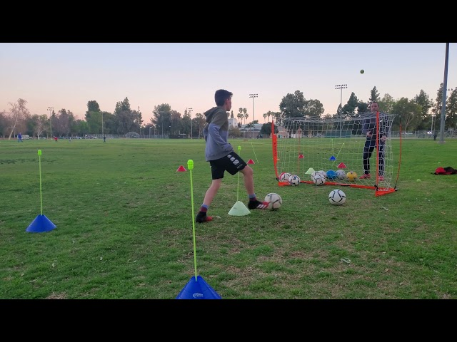 Soccer Volley Drill -  (Back View)