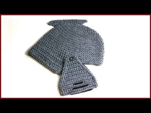 How To Crochet Gladiator Knight In Shining Armor Hat Youtube