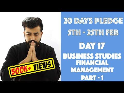 Day - 17 - Financial Management  - Part- 1 - Class 12- Business Studies - C.B.S.E. - Commerce Baba