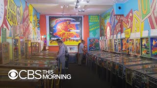 Flipping over a pinball machine museum