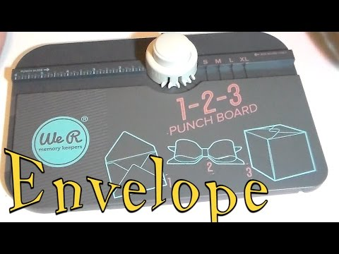 Craft DIY: 1 2 3 PUNCH BOARD ENVELOPES / Cup N Cakes Gourmet