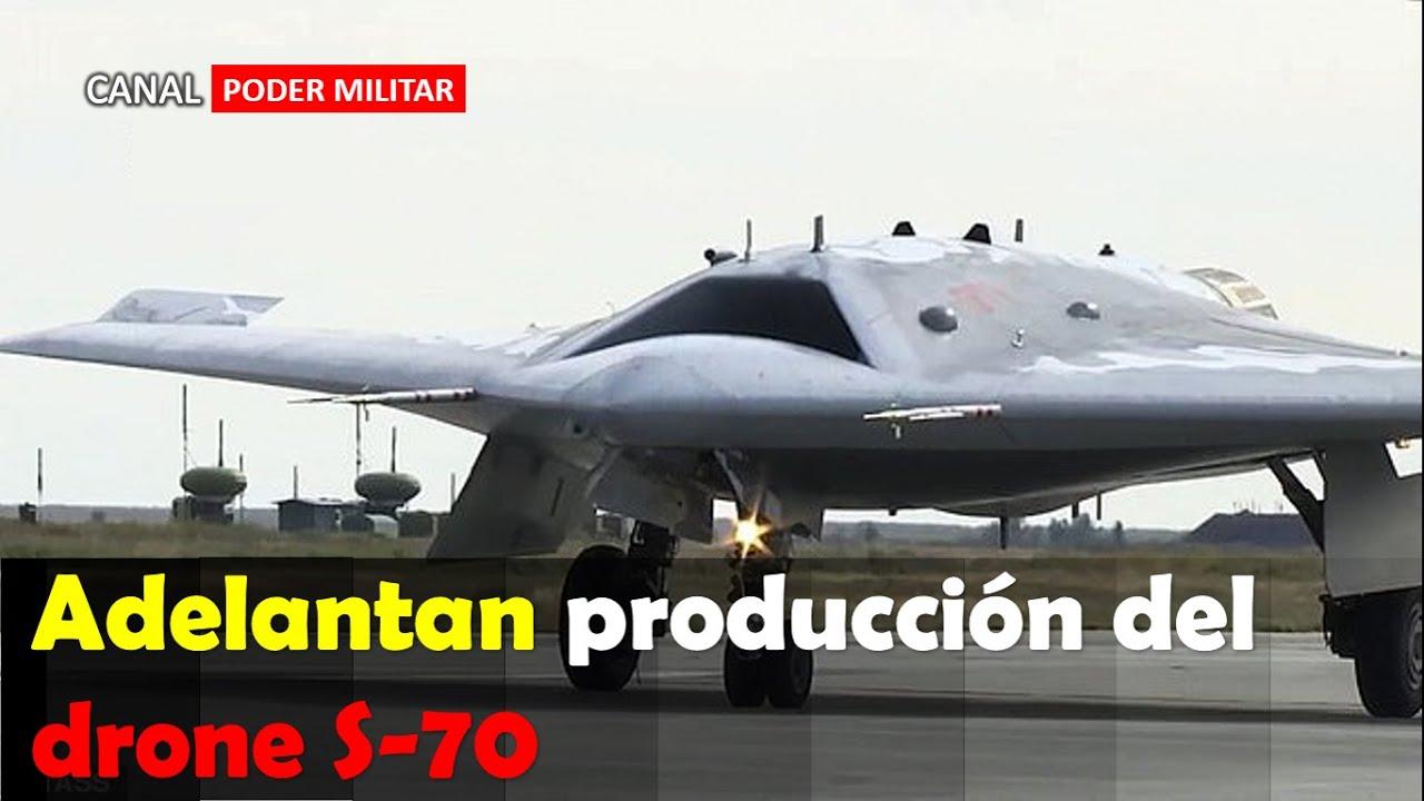 Rusia adelantara la producción de su drone de combate