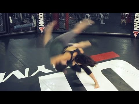 "Michelle ""Karate Hottie"" Waterson Takes Out 3 Grown Ass Men"