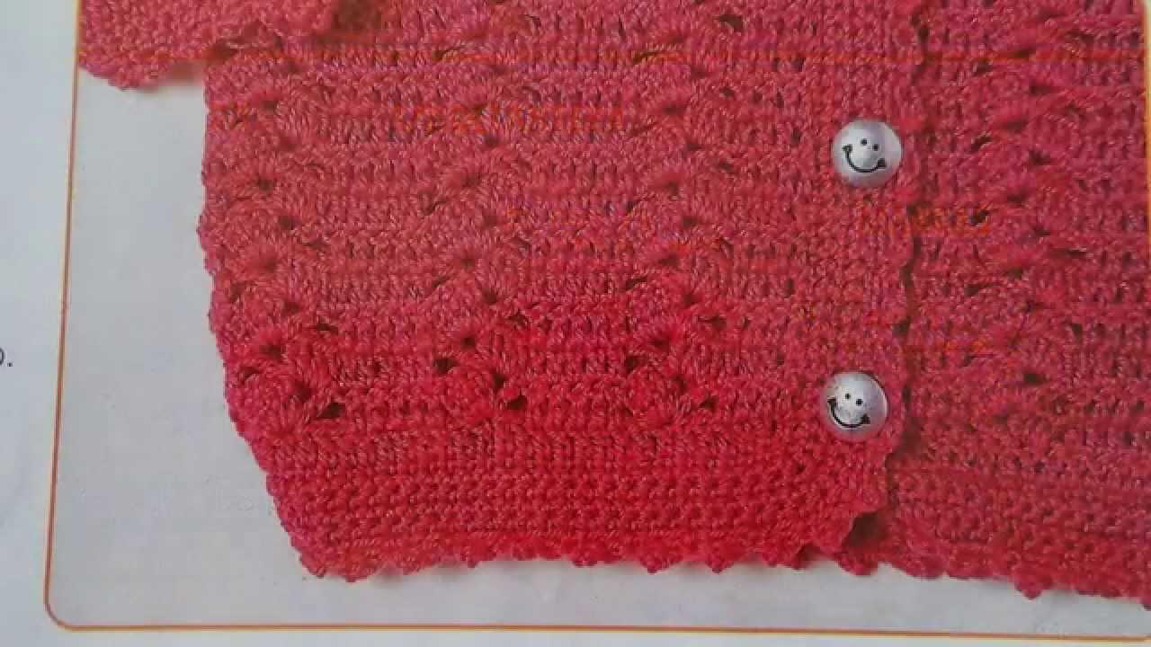 Como tejer sweater para niña a crochet - YouTube