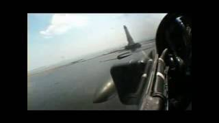 crazy french pilots flying close to the sea