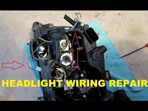 How To Repair Heat Damaged Headlight Wiring.  On My E90 BMW.