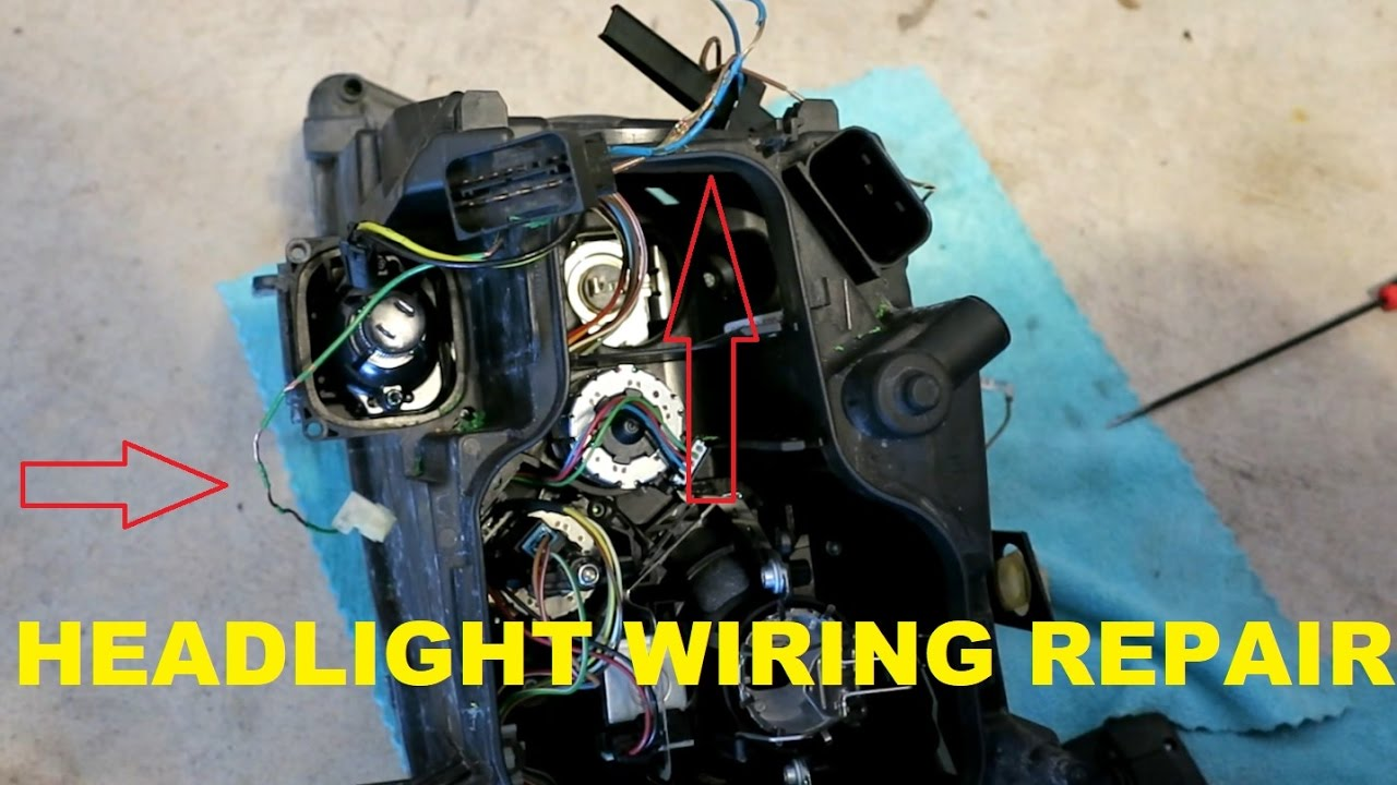 maxresdefault how to repair heat damaged headlight wiring on my e90 bmw youtube bmw e60 headlight wiring harness at eliteediting.co