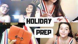 HOLIDAY PREP VLOG | Outfit Planning & Shite Careoke