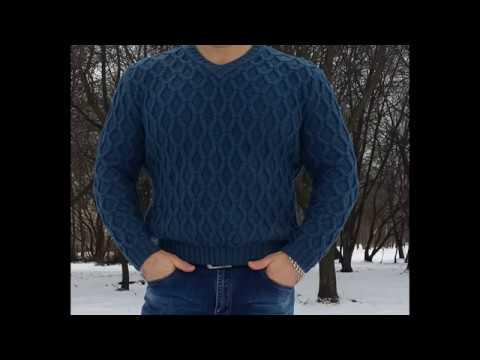 Вязаная спицами одежда для мужчин