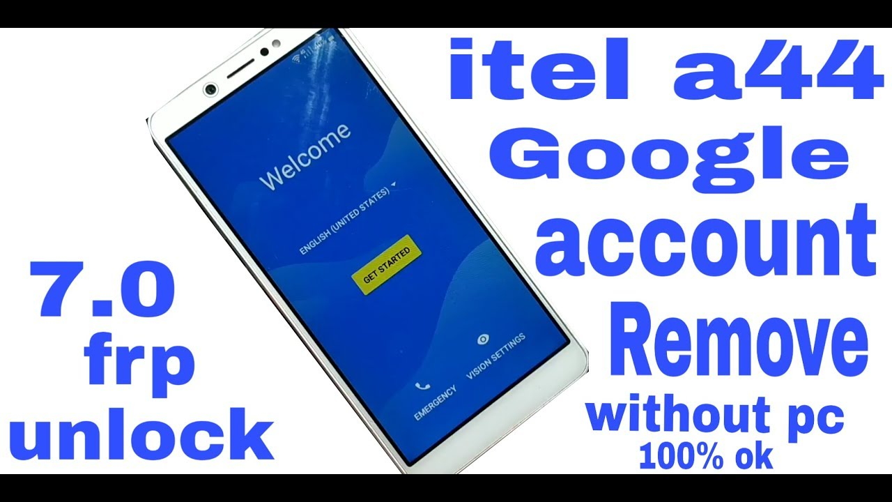 itel a44 gogle account bypass 100% ok without pc