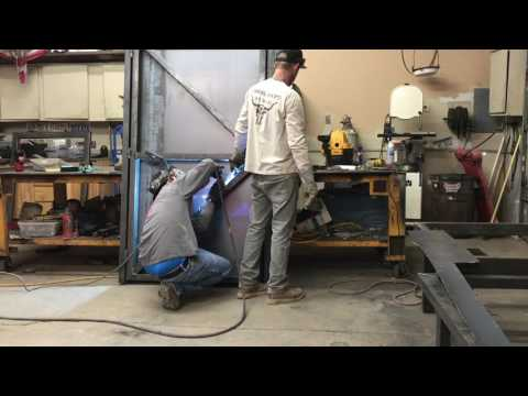 Fabricating a metal door