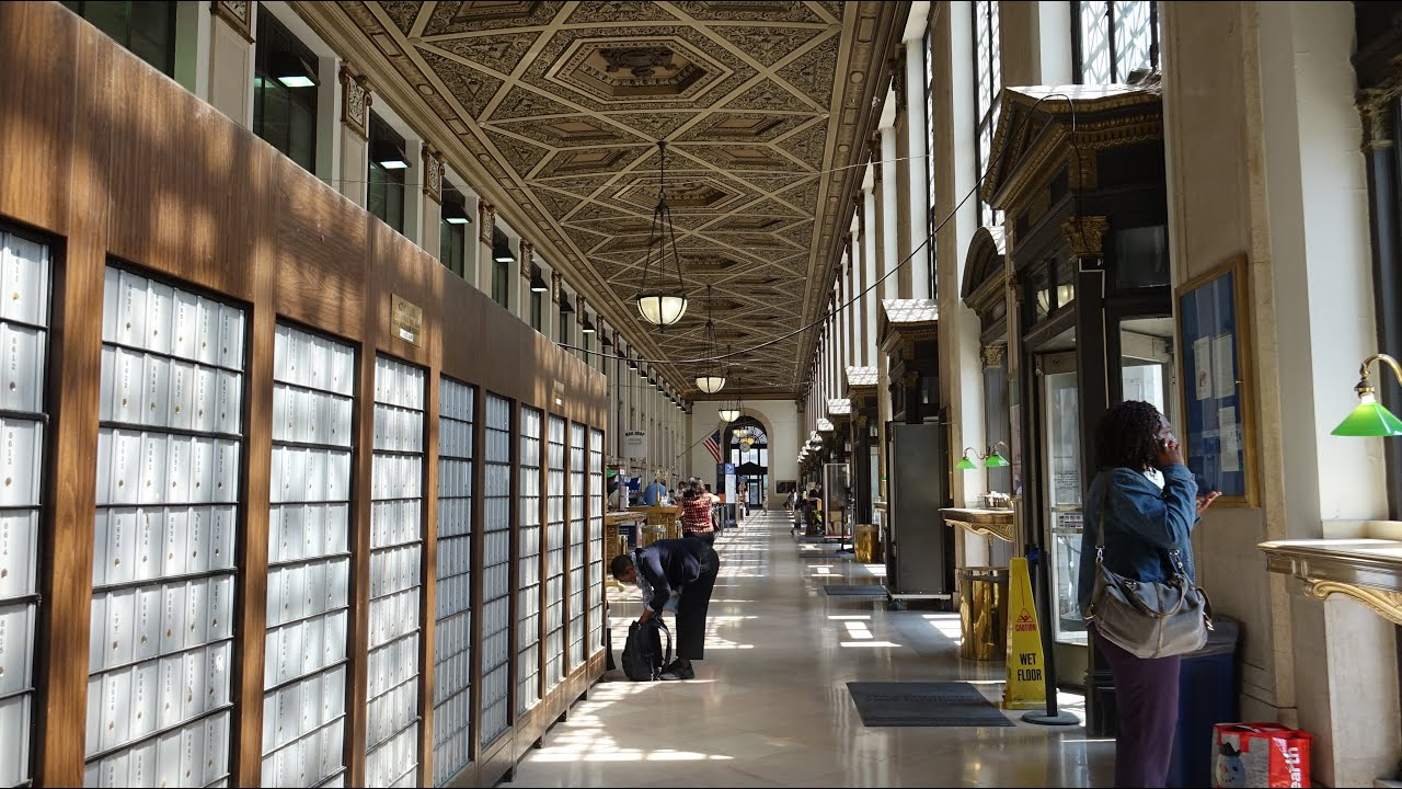Inside The Post Office Building New York City - YouTube