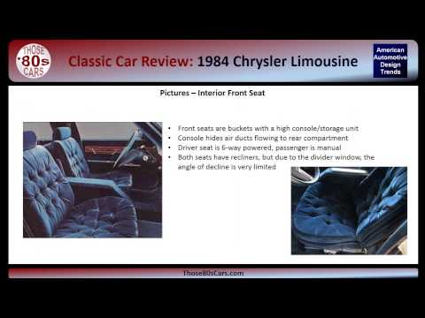 Those-80s-Cars Review: 1984 Chrysler Limousine