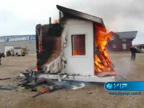 Fibercement Sandwich Panel Building Combustion Test