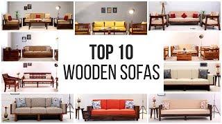 Wooden sofa Set: Top 10 Wooden Sofa Sets Online Upto 55% OFF | Sofa Set Design | Modern Sofa Set