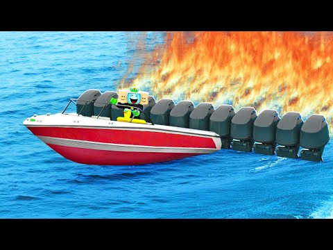 I Built The Worlds FASTEST BOAT! Roblox
