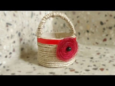 How To Make A Tissue Paper Roll  Basket - DIY Home Tutorial - Guidecentral