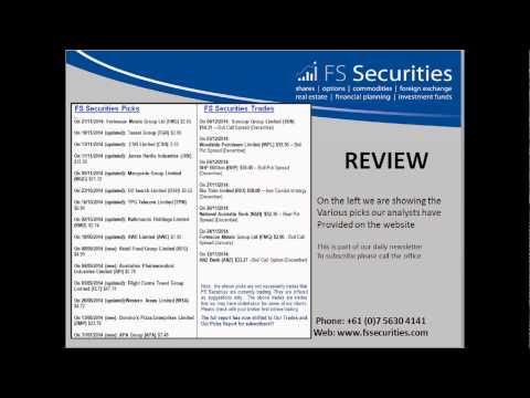 Daily Australian Stockmarket Report Morning 111214