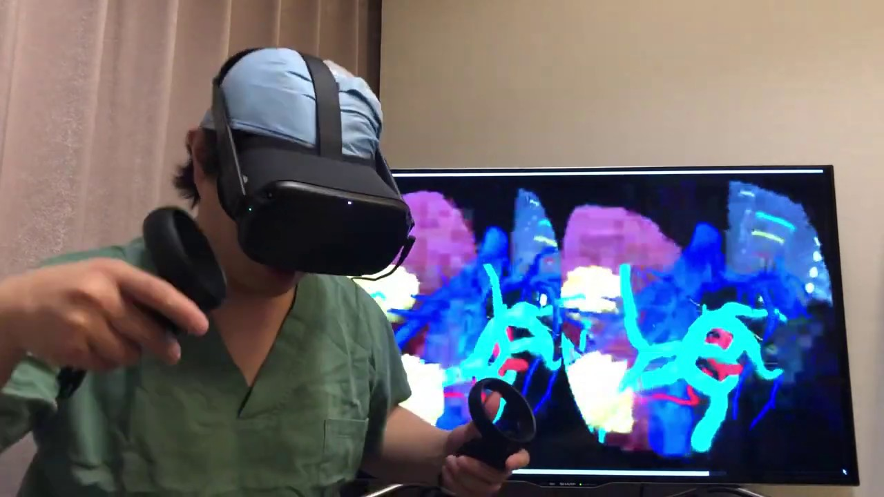 Virtual surgery simulation using HoloeyesXR & Oculus Quest live casting by  Vysor