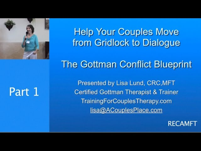 The Gottman Conflict Blueprint Part 1