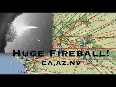 Fire in the Sky News/Major sighting CA,AZ,NM,NV/Huge Fireball!