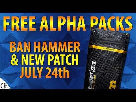 FREE Alpha Packs & Ban Hammer & Patch on July 24th - 6News - Tom Clancy's Rainbow Six Siege