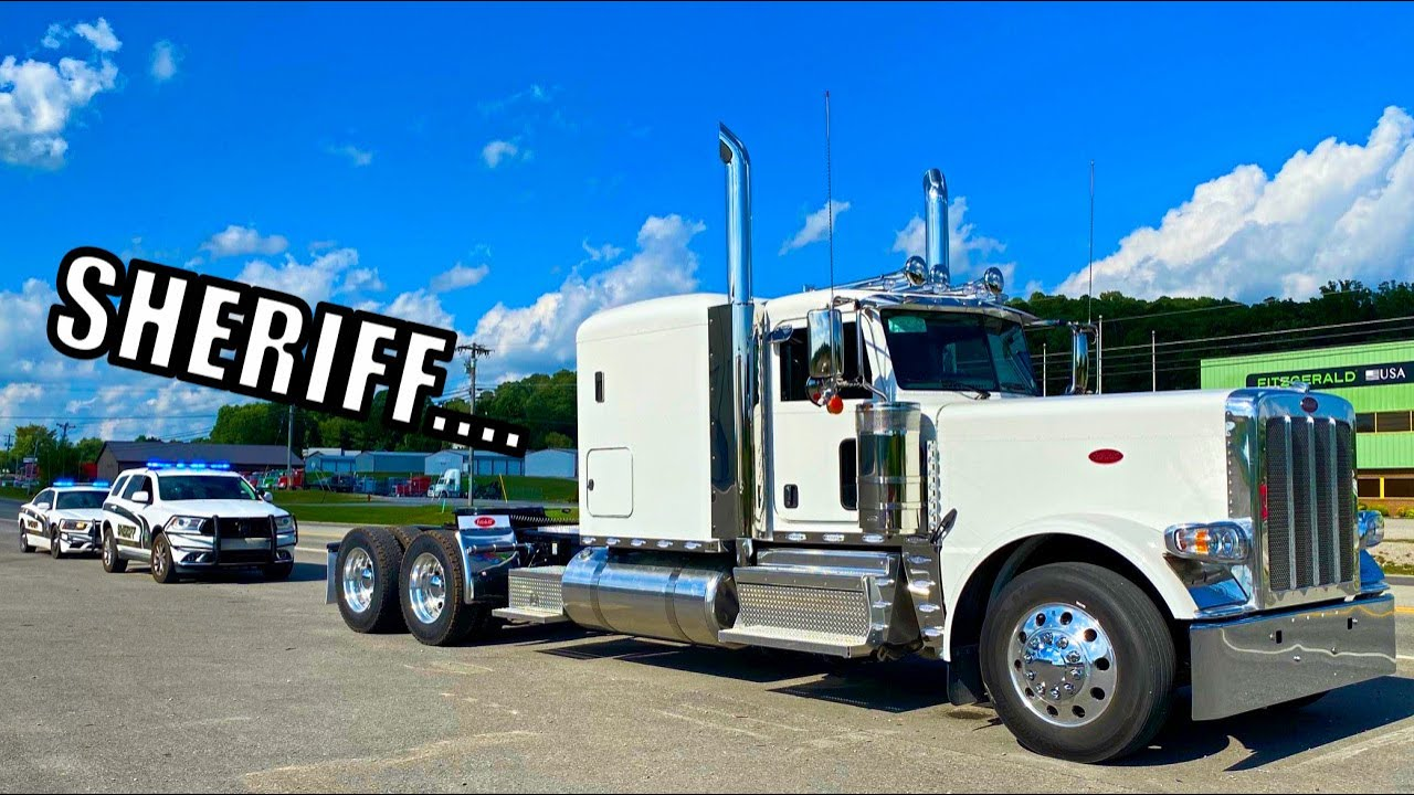 I Got PULLED OVER on my TEST DRIVE in the Peterbilt!