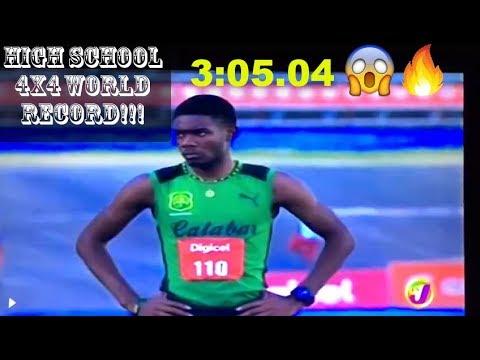 CALABAR (JAM) 3:05.04 Breaks High School 4x400m World Record Feb 16th 2018