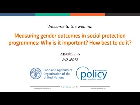 Measuring gender outcomes in social protection programmes