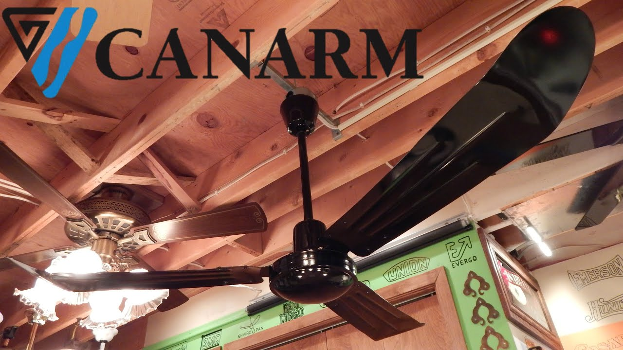 Canarm cp56 industrial ceiling fan youtube canarm cp56 industrial ceiling fan aloadofball Image collections