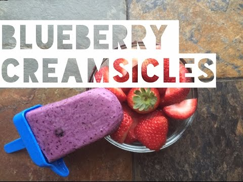 Healthy Low Calorie Blueberry Yogurt Popsicles | How To Make High Protein Blueberry Yogurt Popsicles