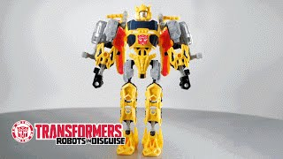 Transformers Bumblebee Construct-Bots Action Figure Toy | Instructional Video for Transformation