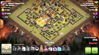 Clash Of Clans | WAR | TH 10 | 3 Star | Queen Healer + 10 valkries with expert affando
