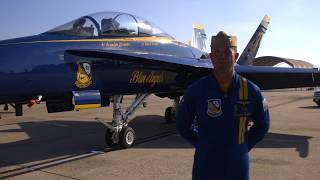 U.S. Navy Blue Angels Arrive at Seymour Johnson AFB
