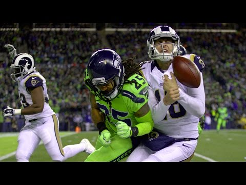 Jared Goff NAILED by Nasty Hit from Seahawks Richard Sherman, Evaluated for Concussion