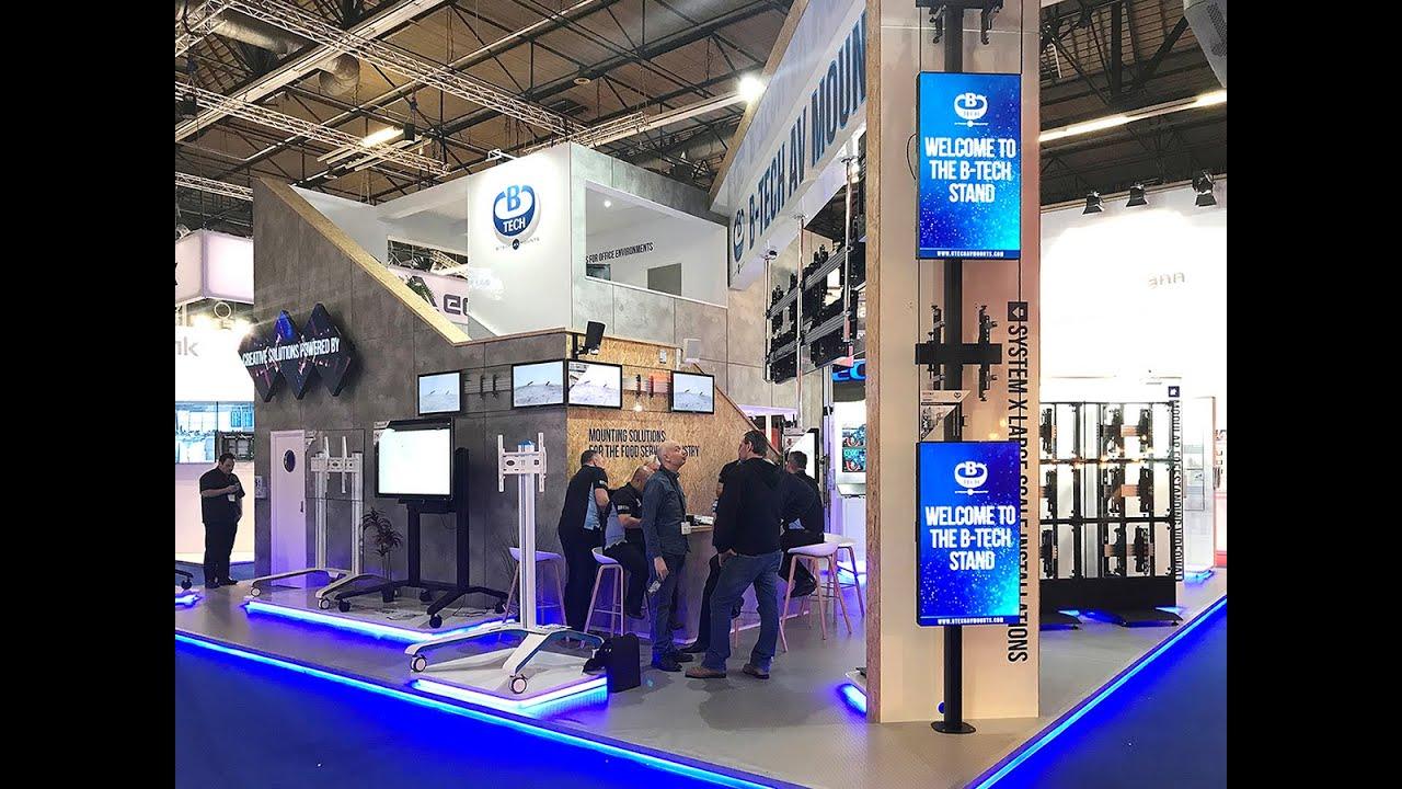 ISE 2019 - B-Tech AV Mounts Stand Walk Through - YouTube