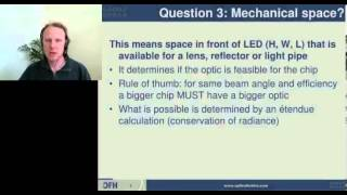 Writing specification for custom LED optic