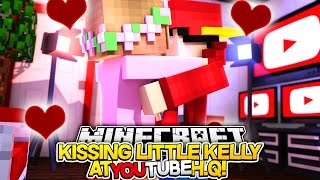 Minecraft Adventure - LITTLE KELLY & LITTLE ROPO KISS?!!