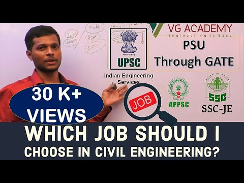 Which job should I choose in civil Engineering?