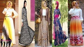 بالفيديو : اروع واجمل الفساتين تركية للمحجبات