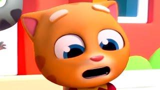 Говорящий Том бег за золотом. Воришка и котенок Джинджер. Игровой мультик для детей