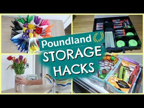 POUNDLAND STORAGE HACKS & DIY ORGANISATION  |  STORAGE IDEAS TO ORGANIZE YOUR LIFE